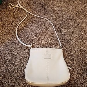Cream Fossil Crossbody Purse
